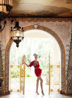 Barbara Fialho Gets Tropical for Elle Mexico January 2013, Shot by Danny Cardozo