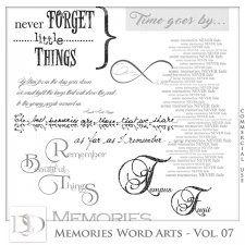 Memories Word Arts Vol 07 by D's Design  #CUdigitals cudigitals.com cu commercial digital scrap #digiscrap scrapbook graphics