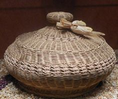 Cherokee basket weaving is taught to our young people...work of art.