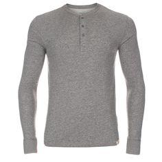 Paul Smith Men's Sleepwear   Grey Jersey Henley Top