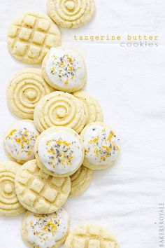 Tangerine Butter Cookies by Bakers Royale