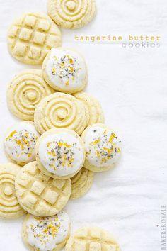 Tangerine Butter Cookies | @bakersroyale