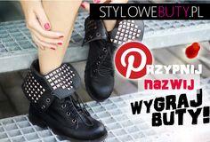 Masz ochote na parę nowych butów z www.StyloweButy.pl?   Wystarczy, że 1. Zostaniesz obserwatorem StylowychButów na Pinterest http://pinterest.com/stylowebutypl  2. Przypniesz do swojej tablicy konkursową fotkę   3. Wymyślisz nazwę dla butów znajdujących się na niej   4. W komentarzu zostawisz link do swojej tablicy oraz nowa nazwę dla naszych worker boots!     Konkurs trwa do 04.11.2012, wyniki podamy do 7 dni od zakończenia zabawy:)    Do wygrania workery widoczne na zdjęciu! POWODZENIA…