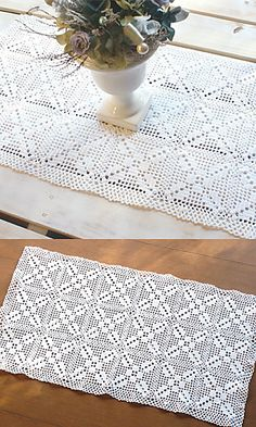just started this squares project yesterday - easy , pretty , fast . Will make a large tablecloth ...