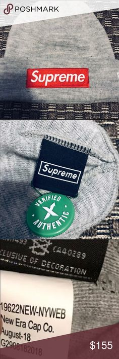 6fabb6d9 Supreme Box Logo Beanie Heather Grey FW18 Authentic Stock X purchased  heather grey Supreme Beanie.