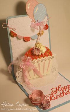 Sizzix Pop 'n Cuts Cupcake Birthday Card