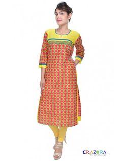 mult coloured designer kurti only at Rs399 https://www.crazora.com/kurtis/glamus-multicolored-cotton-kurti-9918.html