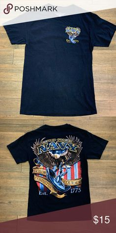 c1304e45b96 Men s graphic tee Used great condition men s U.S. Navy graphic tee. No rips  or tears