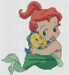 BABY ARIEL cross stitch