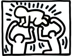 keith haring for kids to color