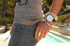 #ArmCandy Perfection --> 3 tips for layering with a #watch! | #Silpada Boyfriend Watch