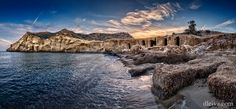 Panorama Playa de los Cocedores (Terreros Almeria) by Domingo Leiva on Beach Rocks, The Province, Amazing Nature, Beautiful Landscapes, Most Beautiful, Spain, Photos, Coast, River