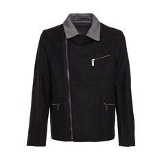 CALVIN KLEIN JEANS Men's Wool Blend Work Jacket
