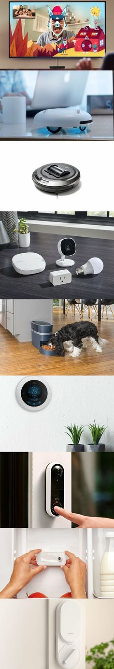 27 Best Smart Home Gadgets which will Make Your Life more Comfortable Smart home gadgets let you easily control the lights, fans, TV, AC and temperature of your home without moving. Camping Gadgets, Home Gadgets, New Gadgets, Latest Gadgets, Vr Camera, Best Smart Home, Security Gadgets, Gadget Store, Cool Electronics