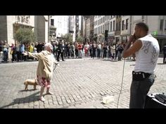 Old Lady Stops In Front Of A Street Performer, But When She Looks Up? Everyone Is Stunned!