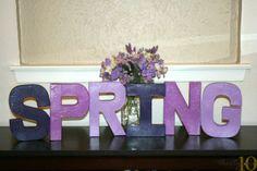 #RadiantOrchid #DIY Spring Home Decor from @Angela Faranda-One: 10 | Supplies available at Joann.com | #craftmonthlove
