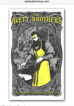 Avett Brothers gig poster