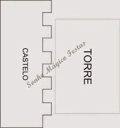 Eu Amo Artesanato: Castelo com molde Ben E Holly, Princesa Sophia, House Template, Felt Patterns, Creative Crafts, Card Templates, Scrapbook Pages, Bar Chart, Cards