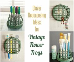 Clever Repurposing Ideas for Vintage Flower Frogs #upcycle #repurpose