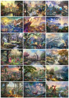 The Perfect Christmas Present - 18 Prints Thomas Kinkade Disney Dreams