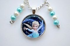 Disney Frozen inspired  Elsa Let it go Necklace Double Sided Pearls Beads #disney #Charm