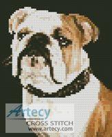 Mini Bulldog Cross Stitch Pattern http://www.artecyshop.com/index.php?main_page=product_info&cPath=11_12&products_id=741