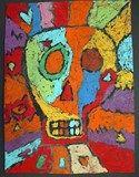 Artsonia Art Exhibit :: Day of the Dead Paper Batik