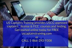 Start your training today for FREE. Why get a Captain's License? *To work as a paid captain or mate *To use your boat for charter *To. Great Lakes, Boating, Get Started, Knots, Sailing, Ads, Train, Education, Learning