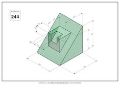 Orthographic Drawing, 3d Cad Models, Cad Drawing, Drawing Practice, Technical Drawing, Autocad, My Drawings, Techno, Exercises
