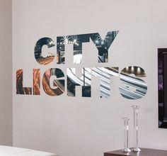 Dieses trendige #Wandtattoo #City #Lights macht Ihre Wand garantiert zum Hingucker! Die #Klebefolie besteht aus dem Schriftzug City Lights, die einzelnen Buchstaben sind aus einem #Foto einer #Stadt bei #Nacht ausgeschnitten. Der #Aufkleber eignet sich besonders gut zur #Dekoration Ihres #Wohnzimmers oder #Schlafzimmers und verleiht Ihrem zu Hause ein modernes Ambiente. #tenstickers