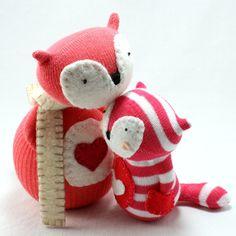 Sock Doll Fox wearing a Scarf Pattern PDF от sewinthemoment