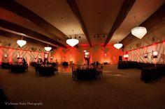 Temple Aliyah - Red - Bar Mitzvah - Gobos  - Lighting design - DB Creativity - laura@Dbcreativity.com