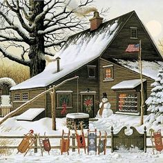 Charles Wysocki, Cocoa Break at the Copperfields ⍋