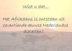 #Taalweetjes I TVcN Tolk- en Vertaalcentrum Nederland #Nederland #afrikaans #nederlands