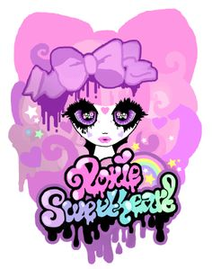 The Roxie Sweetheart Logo #pinkgirl #kawaii #harajuku #cute #rainbow