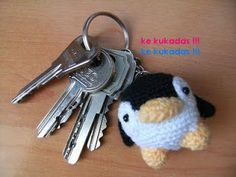 Little Penguin Amigurumi Key Chain Charm - FREE Crochet Pattern and Tutorial