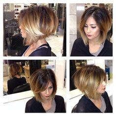 Sombre Asymmetric Hair
