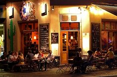 Lone Star Taqueria,Mexican restaurant and street café,nightly street scene,Bergmannstrasse,Kreuzberg,Berlin,Germany,Europe - Royalty Free Images, Photos and Stock Photography :: Inmagine