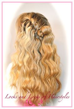 Braided Hairstyles: Waterfall Braid with Beachy Crimped Waves