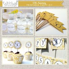 50th anniversary party ideas on a budget | 50th anniversary party ideas on a budget | ... com/listing/112390097 ...