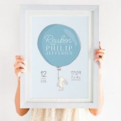 Personalised Birth Details Bunny Print - A perfect new baby gift : This Personalised Birth Details Bunny Print would make a perfect, unique gift for a new baby. Boutique Logo, Logo Fotografie, Cricut Baby Shower, Personalised Prints, Personalised Baby Gifts, It's A Boy Announcement, Cute Baby Girl Pictures, Birth Gift, Baby Birth