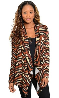Tiger Print Cardigan #fashion #fall #outfit #teen #ladies #style