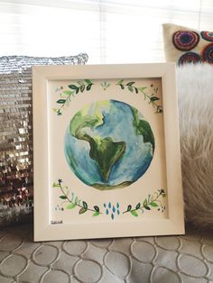 A personal favorite from my Etsy shop https://www.etsy.com/listing/260996473/the-earth-watercolor