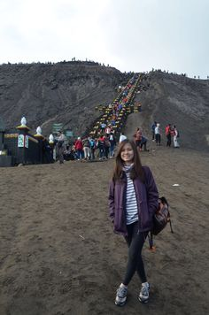 250 stairs step to Bromo Crater