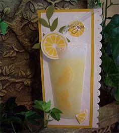 Lemonade glass card