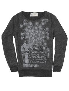 Look what I found from Out of Print! Pride and Prejudice women's book sweatshirt – Out of Print #OutofPrintClothing