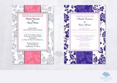 Wedding Invitation - Elegant floral A5 size