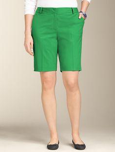 "Talbots - 9"" Twill Shorts   Palm Frond"