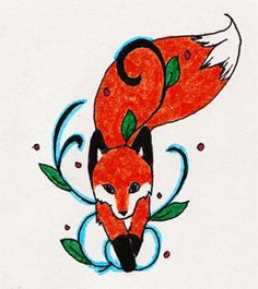 Fox Tattoo by FeuerspeiendWolf.deviantart.com on @deviantART... Fox with leaves/vines