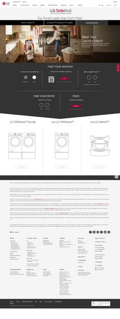 At LG, we make it simple to match an innovative new LG SideKick™ to your LG washer, creating the perfect laundry solution! Washer, Flexibility, Back Walkover, Washing Machine